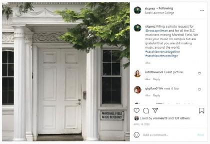 Instagram of Sarah Lawrence College President Cristle Collins Judge